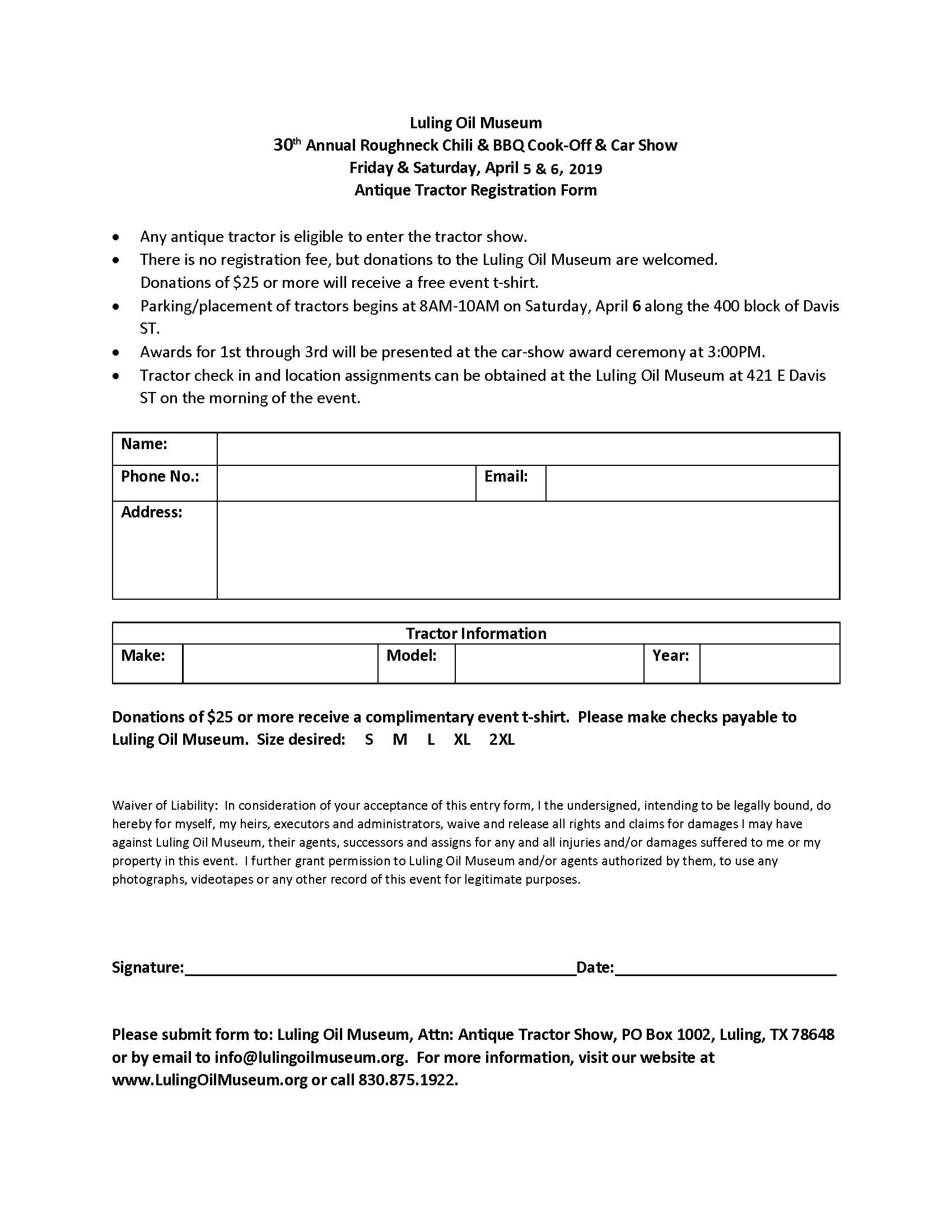 Luling Oil Museum – Form Download Center